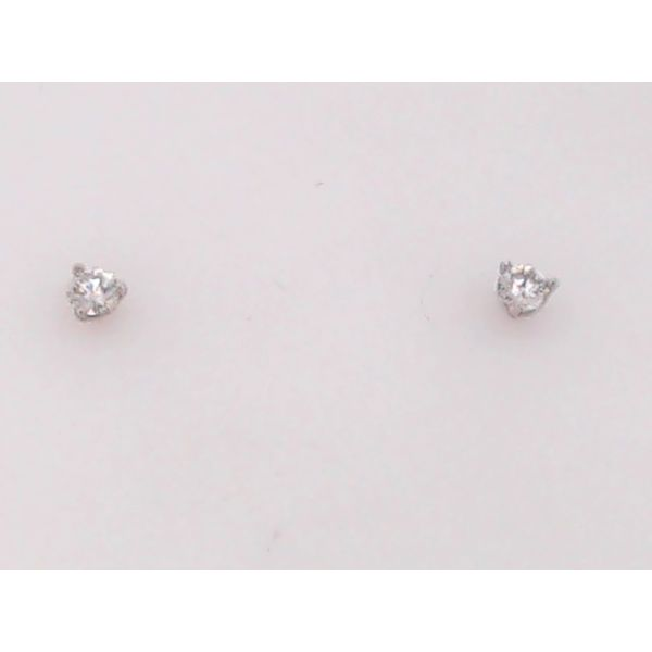 Classic 14K White Gold 1/4 Carrat Diamond Martini Studs Perry's Emporium Wilmington, NC