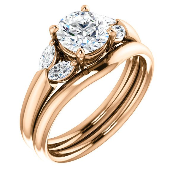 Rose Gold Diamond Engagement Ring Peter & Co. Jewelers Avon Lake, OH