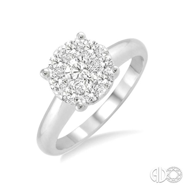 White Gold Center Cluster Engagement Ring Peter & Co. Jewelers Avon Lake, OH