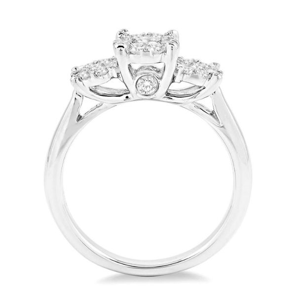 3-Stone Cluster Diamond Ring Image 2 Peter & Co. Jewelers Avon Lake, OH