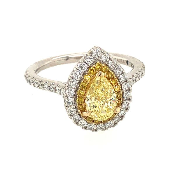 Pear Shape Yellow Diamond Ring Peter & Co. Jewelers Avon Lake, OH