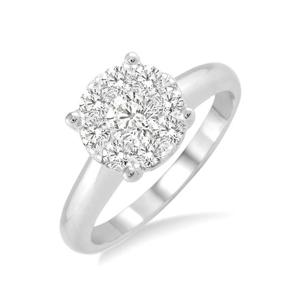 Cluster Diamond Engagement Ring Peter & Co. Jewelers Avon Lake, OH