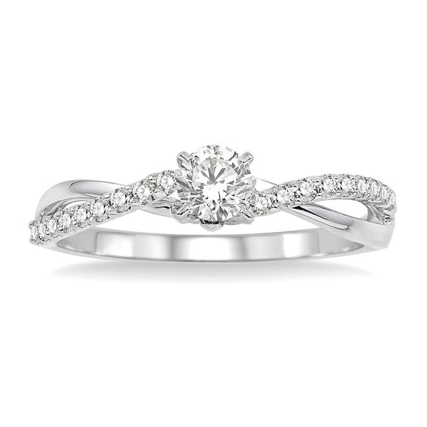 1/2ctw Diamond Twist Engagement Ring Peter & Co. Jewelers Avon Lake, OH