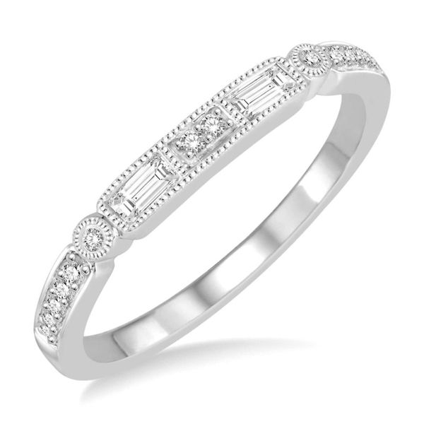 Baguette and Round Diamond Wedding Band Peter & Co. Jewelers Avon Lake, OH