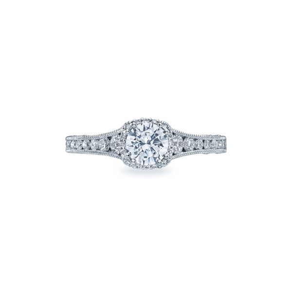 Reverse Crescent Tacori Engagement Ring Setting Peter & Co. Jewelers Avon Lake, OH