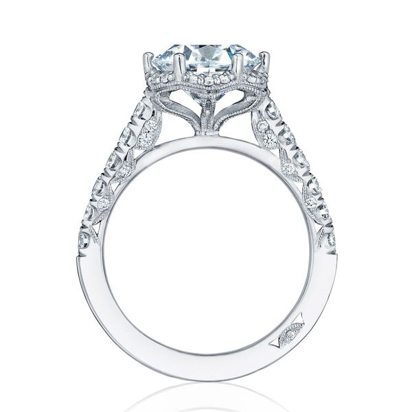 Petite Crescent Tacori Engagement Ring Setting Image 2 Peter & Co. Jewelers Avon Lake, OH
