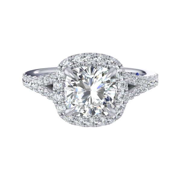 Fana Halo Engagement Ring Setting Peter & Co. Jewelers Avon Lake, OH