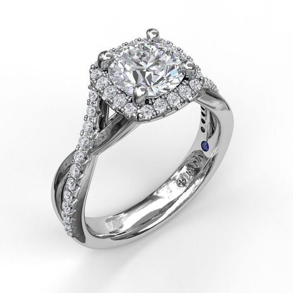 Fana Halo Engagement Ring Setting Image 2 Peter & Co. Jewelers Avon Lake, OH