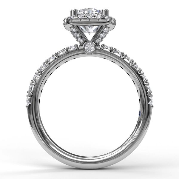 Fana Cushion Halo Engagement Ring Setting Image 2 Peter & Co. Jewelers Avon Lake, OH