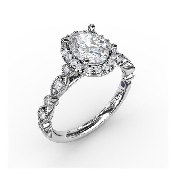 Oval Halo Engagement Ring Setting Image 2 Peter & Co. Jewelers Avon Lake, OH