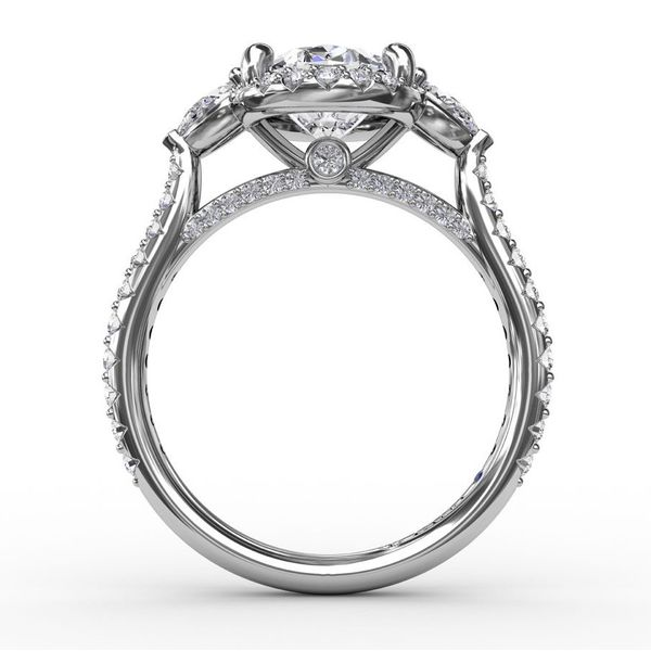 Fana Three-Stone Oval Engagement Ring Setting Image 2 Peter & Co. Jewelers Avon Lake, OH