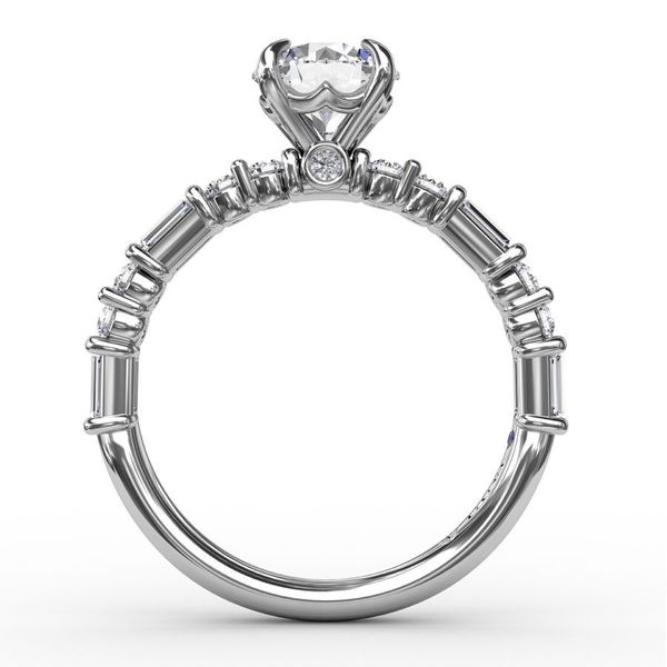 Fana Baguette Engagement Ring Setting Image 2 Peter & Co. Jewelers Avon Lake, OH
