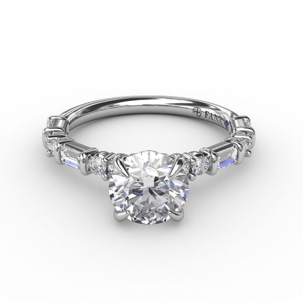 Fana Baguette Engagement Ring Setting Peter & Co. Jewelers Avon Lake, OH