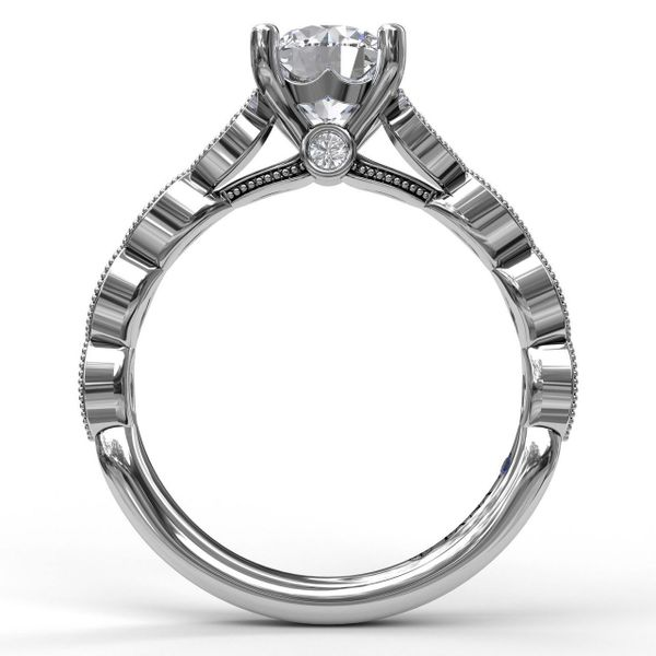 0.14ctw Diamond Halo Solitaire Fana Engagement Ring Image 2 Peter & Co. Jewelers Avon Lake, OH