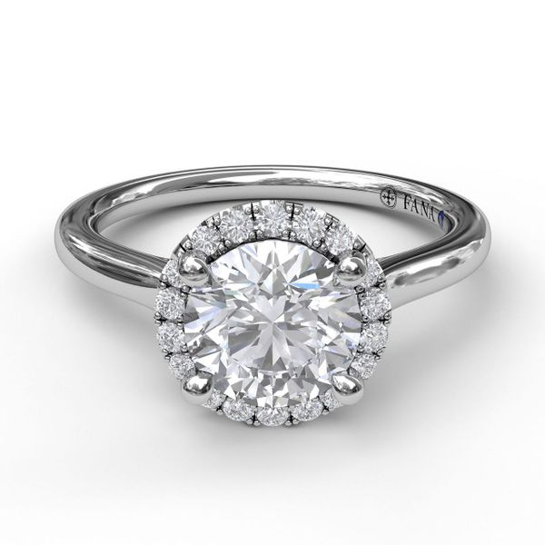 0.14ctw Diamond Halo Solitaire Fana Engagement Ring Peter & Co. Jewelers Avon Lake, OH