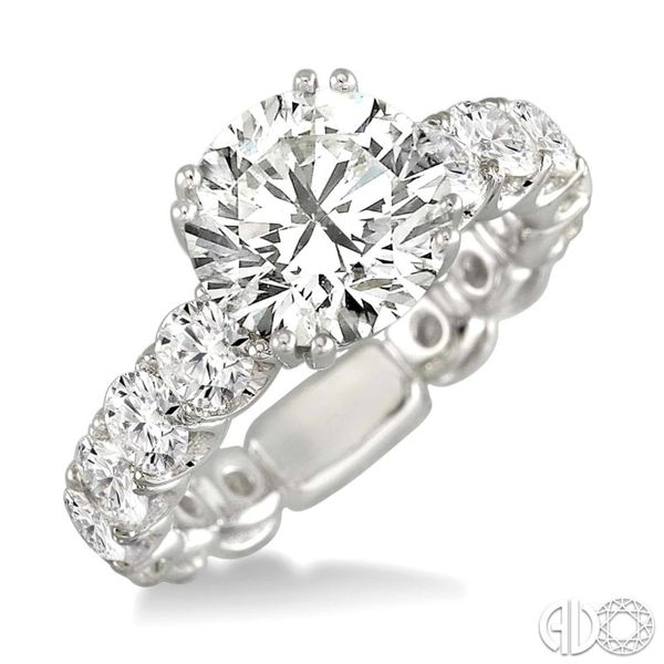 Shared Prong Engagement Ring Setting Peter & Co. Jewelers Avon Lake, OH