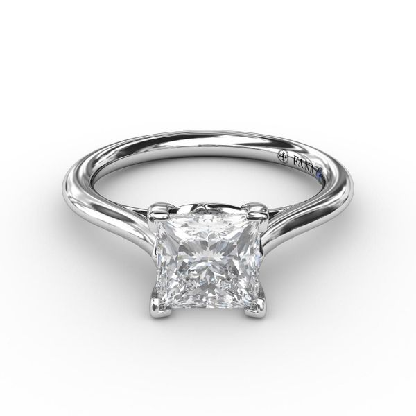 Princess Solitaire Engagement Ring Setting Peter & Co. Jewelers Avon Lake, OH