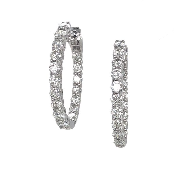 2ct Diamond Hoop Earrings Peter & Co. Jewelers Avon Lake, OH