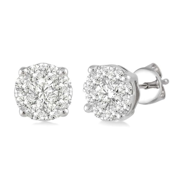 Cluster Diamond Stud Earrings 1/4ctw Peter & Co. Jewelers Avon Lake, OH