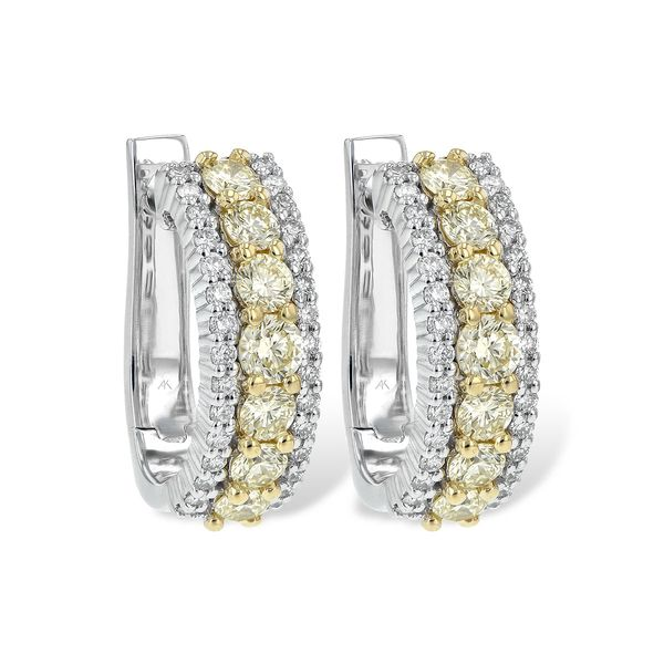 Yellow Diamond Hoop Earrings Peter & Co. Jewelers Avon Lake, OH