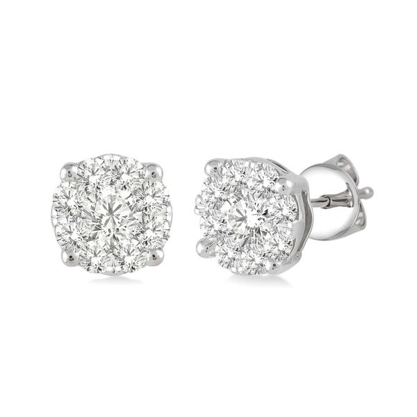 0.50ctw Cluster Diamond Stud Earrings Peter & Co. Jewelers Avon Lake, OH