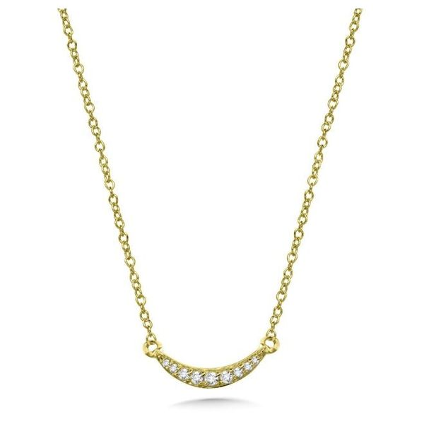 Crescent Diamond Pendant Necklace Peter & Co. Jewelers Avon Lake, OH