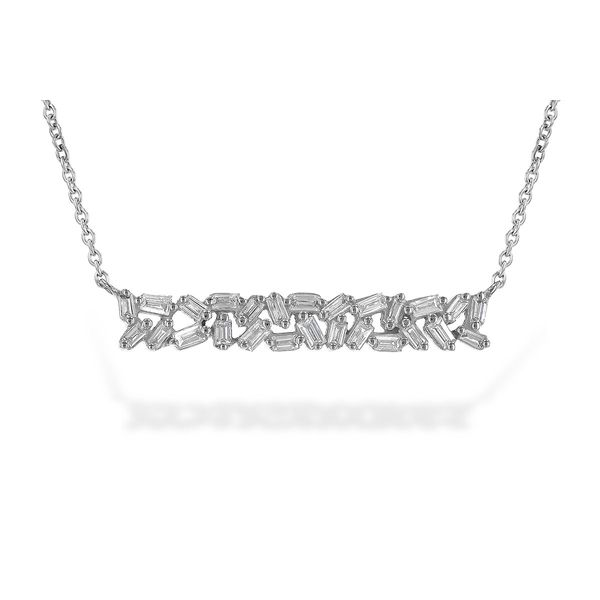 Bagguette Diamond Bar Necklace Peter & Co. Jewelers Avon Lake, OH