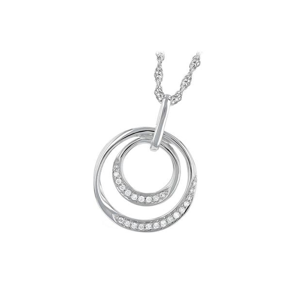 Double Circle Diamond Pendant Necklace Peter & Co. Jewelers Avon Lake, OH