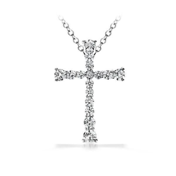 Hearts On Fire Divine Journey Cross Pendant 1/4ctw Peter & Co. Jewelers Avon Lake, OH