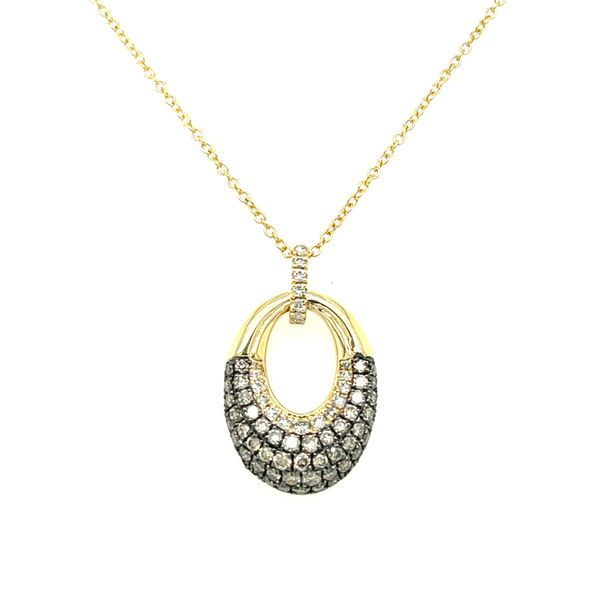 Cognac Pave Diamond Oval Necklace Peter & Co. Jewelers Avon Lake, OH