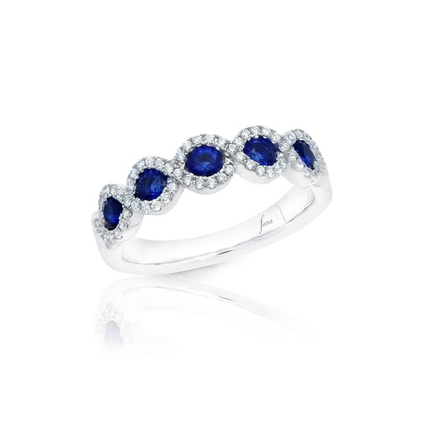 Sapphire and Diamond Fana Band Peter & Co. Jewelers Avon Lake, OH