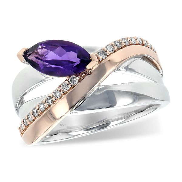 Amethyst & Diamond Ring Peter & Co. Jewelers Avon Lake, OH
