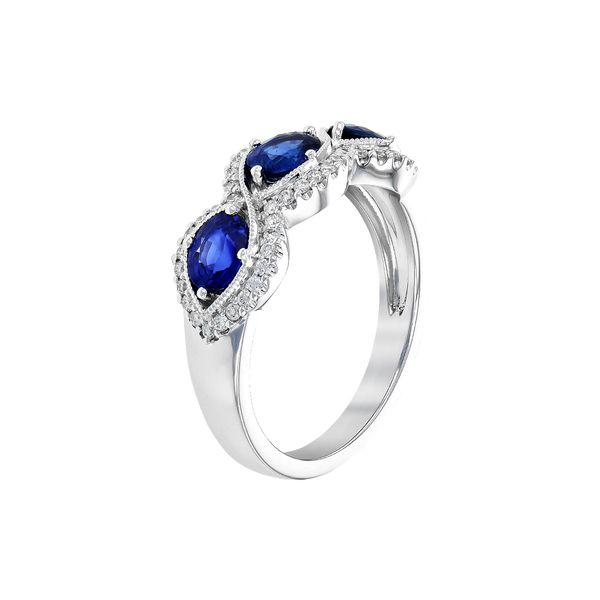 Sapphire and Diamond Ring Image 2 Peter & Co. Jewelers Avon Lake, OH