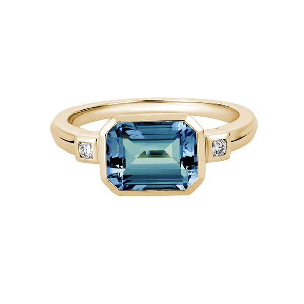 London Blue Topaz with 0.05ctw Diamond Ring Peter & Co. Jewelers Avon Lake, OH