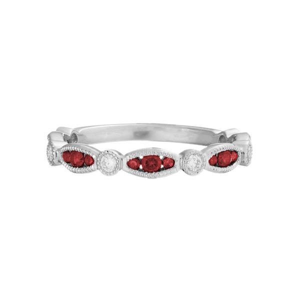 Ruby and Diamond Stackable Band Peter & Co. Jewelers Avon Lake, OH