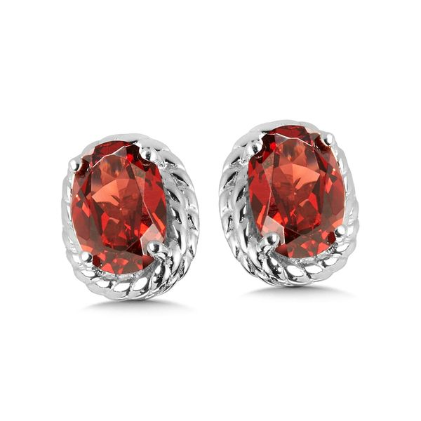 Garnet Stud Earrings Peter & Co. Jewelers Avon Lake, OH