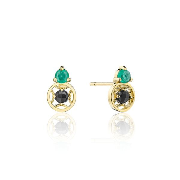 Black and Green Onyx Tacori Stud Earrings Peter & Co. Jewelers Avon Lake, OH