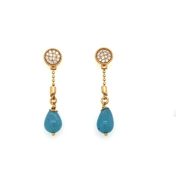 Luca Stiletto Earrings with Aquamarine Tear Drops Peter & Co. Jewelers Avon Lake, OH