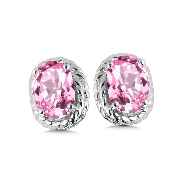 Pink Sapphire Stud Earrings Peter & Co. Jewelers Avon Lake, OH