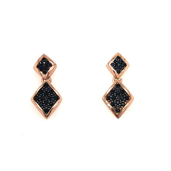Luca Black Sapphire Diamond Drop Earrings Peter & Co. Jewelers Avon Lake, OH