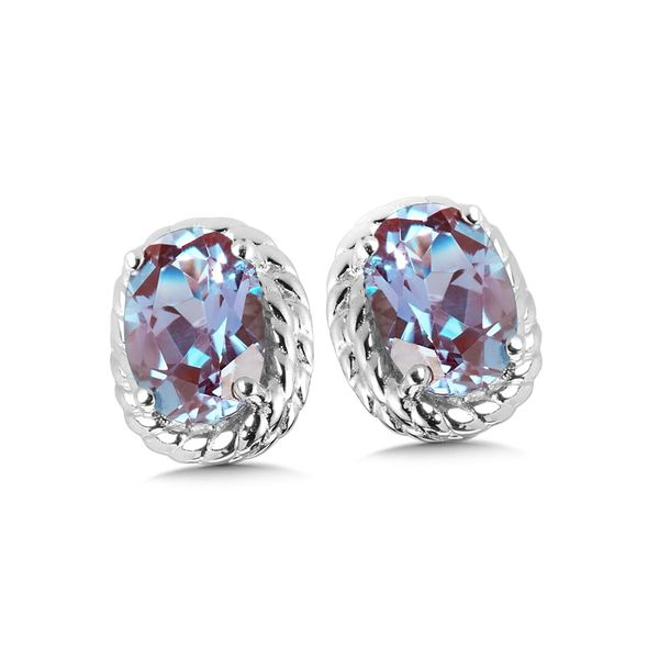 Alexandrite Stud Earrings Peter & Co. Jewelers Avon Lake, OH