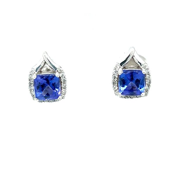 Tanzanite and Diamond Earrings Peter & Co. Jewelers Avon Lake, OH