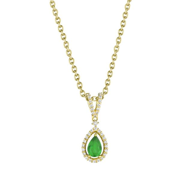 Pear Shape Emerald and Diamond Pedant Peter & Co. Jewelers Avon Lake, OH