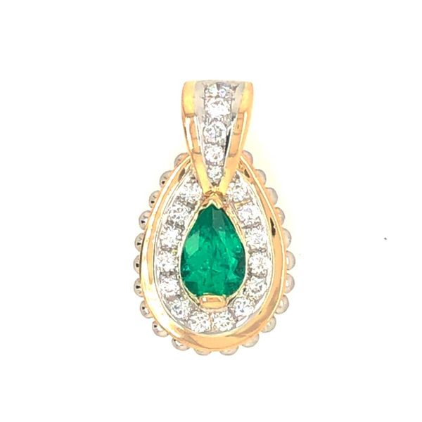 Emerald and Diamond Pendant Peter & Co. Jewelers Avon Lake, OH