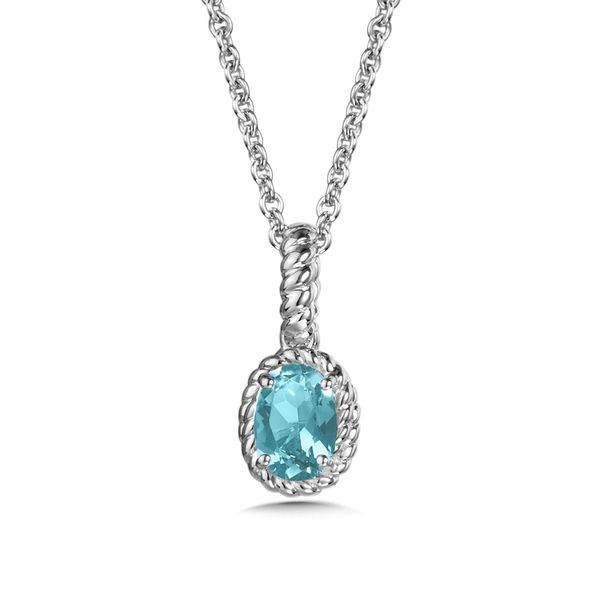 Aquamarine Pendant Necklace Peter & Co. Jewelers Avon Lake, OH