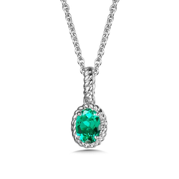 Oval Emerald Pendant Necklace Peter & Co. Jewelers Avon Lake, OH