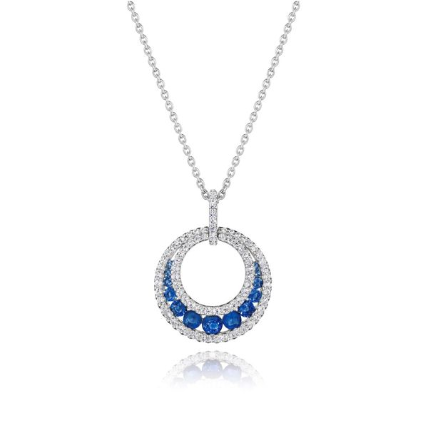Diamond and Sapphire Fana Necklace Peter & Co. Jewelers Avon Lake, OH