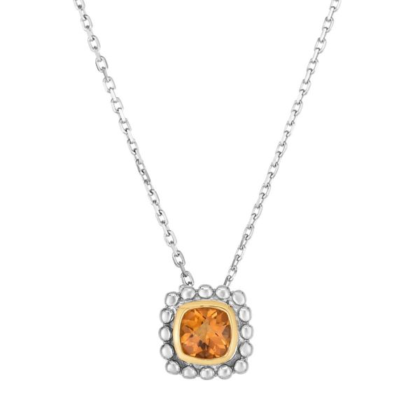 Square Citrine Pendant Peter & Co. Jewelers Avon Lake, OH