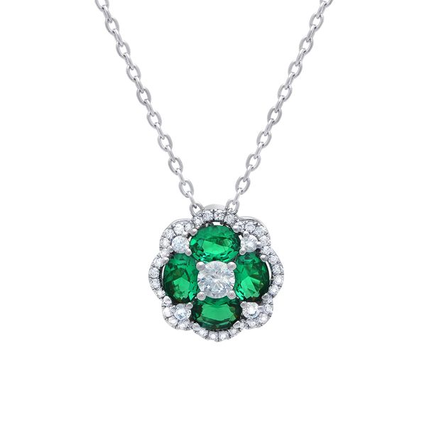 Fana Emerald and Diamond Necklace Peter & Co. Jewelers Avon Lake, OH