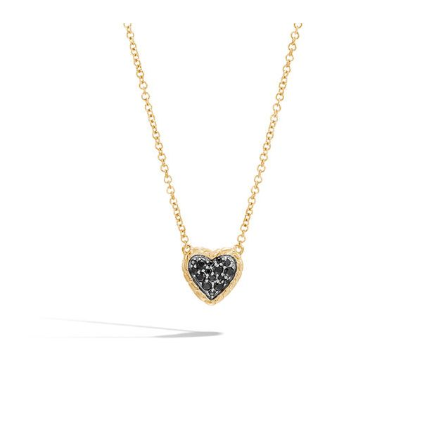 John Hardy Black Sapphire Heart Pendant Necklace Peter & Co. Jewelers Avon Lake, OH